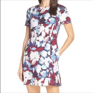 French connection floral watercolor dress EUC